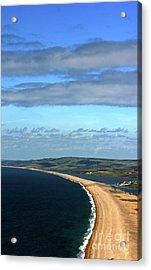 Acrylic Print featuring the photograph Chesil Beach by Baggieoldboy