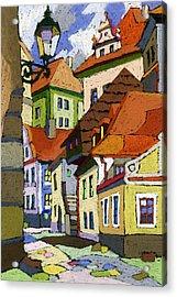 Chesky Krumlov Masna Street 1 Acrylic Print