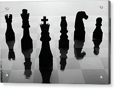 Chess Board And Pieces Acrylic Print
