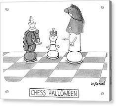 Chess Halloween Acrylic Print by Amy Kurzweil