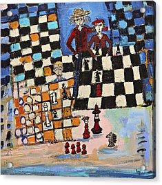 Chess Acrylic Print by Maggis Art