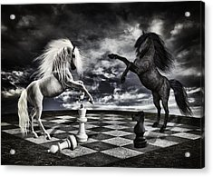 Chess Players Acrylic Print by Mihaela Pater