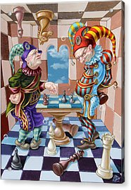 Chess Players Acrylic Print