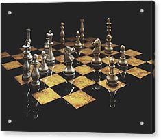 Chess The Art Game Acrylic Print