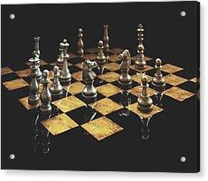 Chess The Art Game Acrylic Print