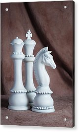 Chessmen Iv Acrylic Print by Tom Mc Nemar