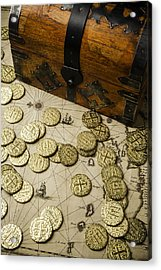 Chest With Pirate Treasure Acrylic Print by Garry Gay