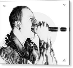 Chester Bennington Illustration  Acrylic Print