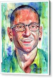 Chester Bennington Portrait Acrylic Print
