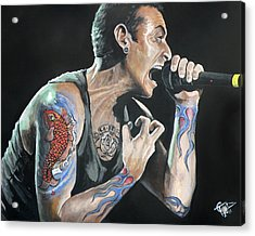 Chester Bennington Acrylic Print by Tom Carlton