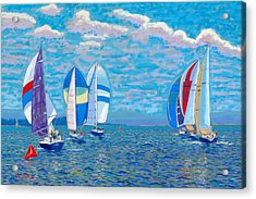 Chester Race Week 2009 Acrylic Print by Rae  Smith PSC