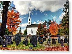 Chester Village Cemetery In Autumn Acrylic Print