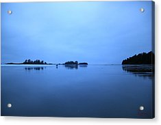 Chesterman Spatial Blues Acrylic Print