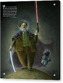 Chesterton In Space Acrylic Print by Theodore Schluenderfritz