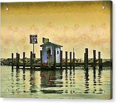 Chestertown Gas Dock Acrylic Print