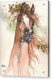 Chestnut Arabian Horse 2015 05 30 Acrylic Print by Angel  Tarantella