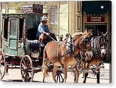 Chestnut Horses Pulling Carriage Acrylic Print
