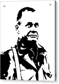 Chesty Puller Acrylic Print by War Is Hell Store