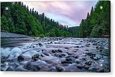 Acrylic Print featuring the photograph Chetco River Sunset 2 by Leland D Howard