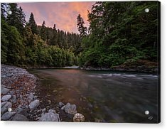 Acrylic Print featuring the photograph Chetco River Sunset by Leland D Howard
