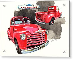 Chevrolet 3100 Pick Up Acrylic Print by Yoshiharu Miyakawa