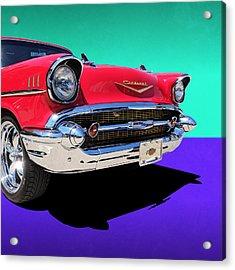 Chevrolet Bel Air Color Pop Acrylic Print