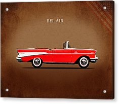 Chevrolet Bel Air Convertible 1957 Acrylic Print by Mark Rogan