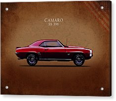 Chevrolet Camaro Ss 396 Acrylic Print by Mark Rogan