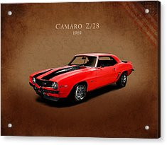 Chevrolet Camaro Z 28 Acrylic Print by Mark Rogan
