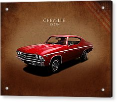 Chevrolet Chevelle Ss 396 Acrylic Print by Mark Rogan