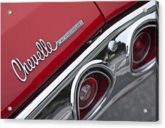 Chevrolet Chevelle Ss Taillight Emblem 2 Acrylic Print by Jill Reger