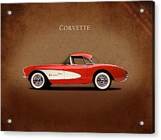 Chevrolet Corvette 1957 Acrylic Print by Mark Rogan