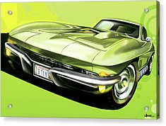 Chevrolet Corvette C2 Sting Ray Acrylic Print by Uli Gonzalez