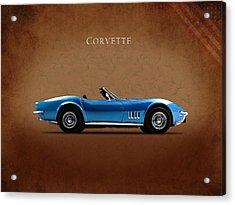 Chevrolet Corvette Stingray Acrylic Print by Mark Rogan
