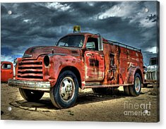 1948 Chevrolet Fire Truck Acrylic Print
