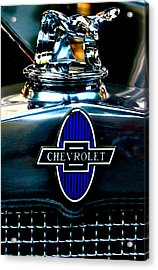 Chevrolet Hoodie Acrylic Print by Gwyn Newcombe