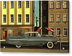 Chevrolette Impala At The Big Apple Acrylic Print