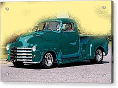 Acrylic Print featuring the painting Chevy Azure by Gertrude Palmer