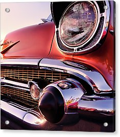 Chevy Bel Air Grille And Bumper Detail Acrylic Print