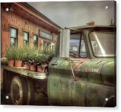 Acrylic Print featuring the photograph Chevy C 30 Pickup Truck - Colby Farm by Joann Vitali