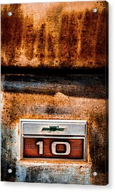 Chevy C10 Rusted Emblem Acrylic Print
