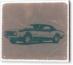 Chevy Camaro Acrylic Print by Naxart Studio