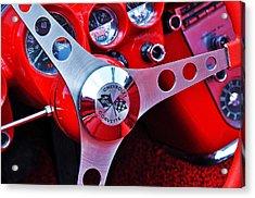 Chevy Corvettte Steering Wheel Acrylic Print