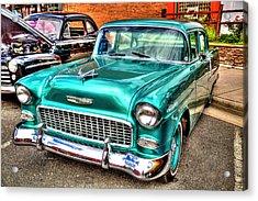 Chevy Cruising 55 Acrylic Print by Dale R Carlson