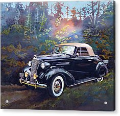 Chevy In The Woods Acrylic Print by Mike Hill