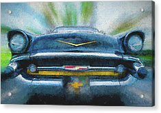 Chevy Power Acrylic Print by Marvin Spates