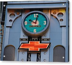 Chevy Times Square Clock Acrylic Print by Rob Hans