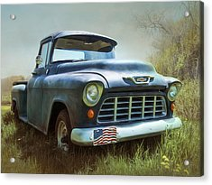 Acrylic Print featuring the photograph Chevy Truck by Robin-Lee Vieira