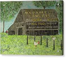 Acrylic Print featuring the painting Chew Mail Pouch Barn by Kathy Marrs Chandler