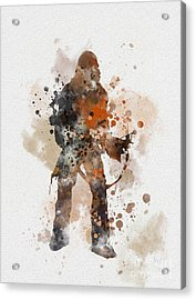 Chewie Acrylic Print by Rebecca Jenkins